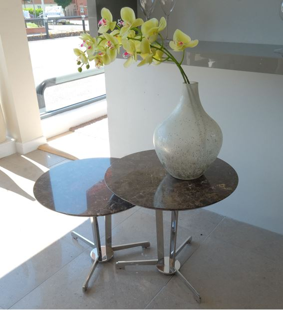 Picture of IMPERADOR MARBLE TALL LAMP TABLE